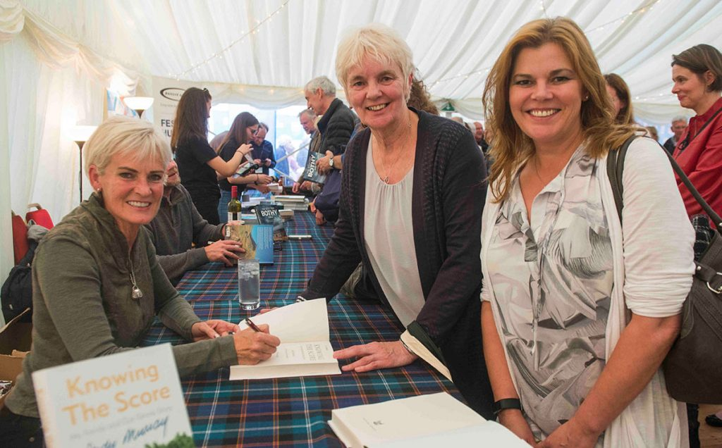 Borders Book Festival 2017 Judy Murray Book Signing