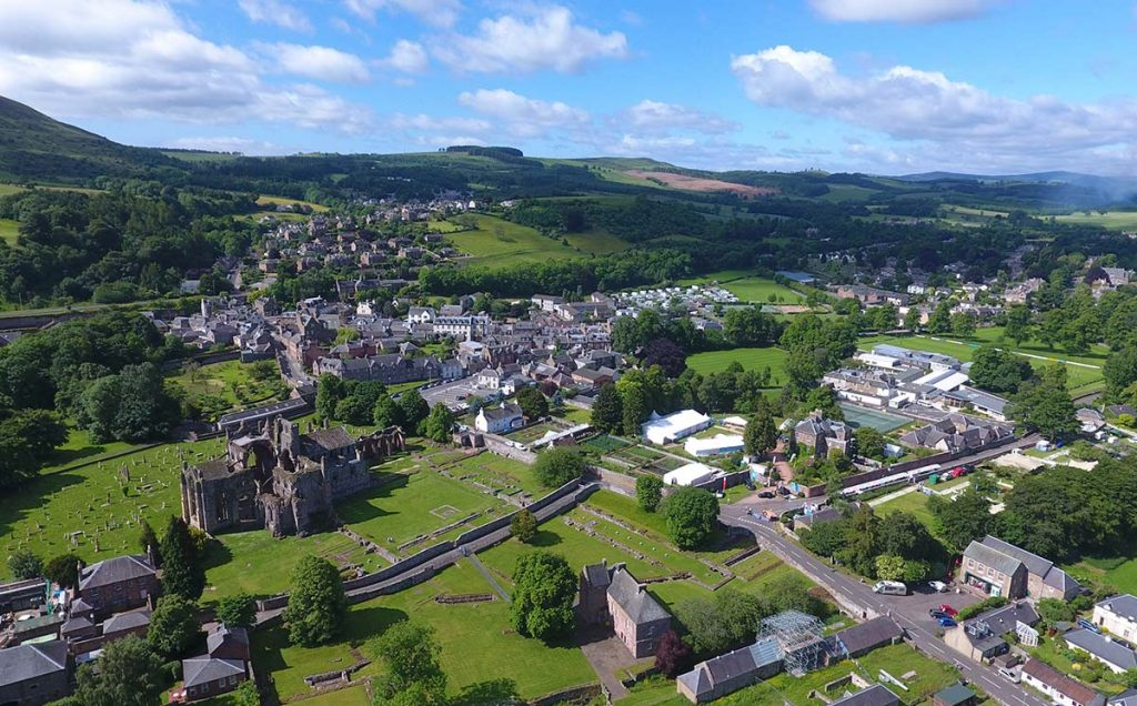Borders Book Festival 2017 Melrose From The Air