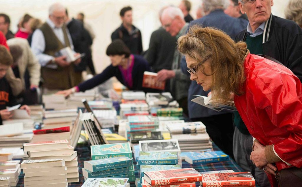 Borders Book Festival 2018 Book Shop Browsing