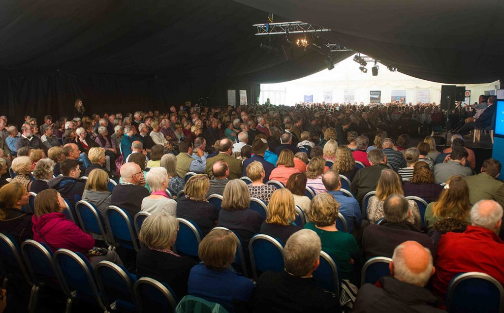 Borders Book Festival 2018 Marquee
