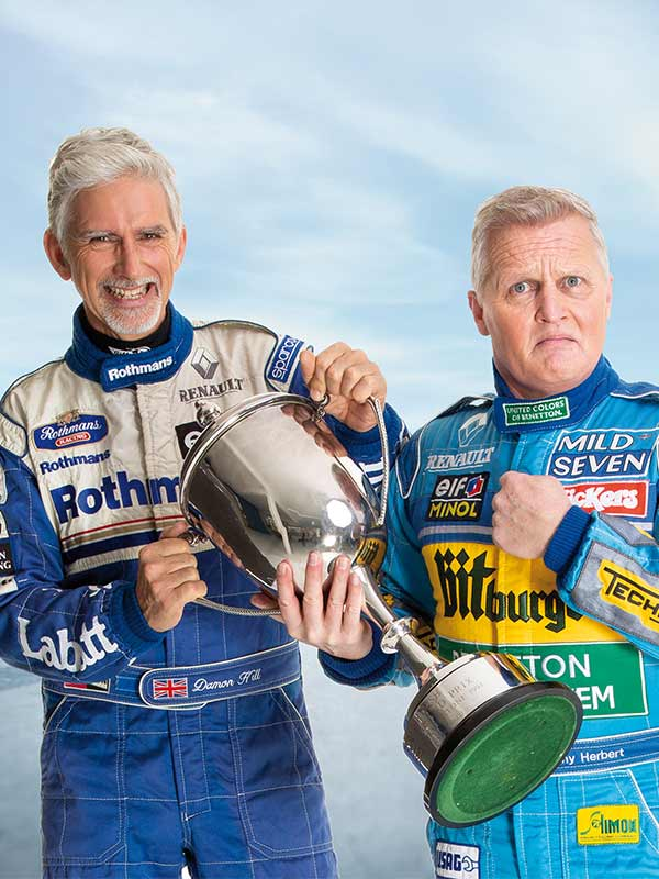 Damon Hill and Johnny Herbert