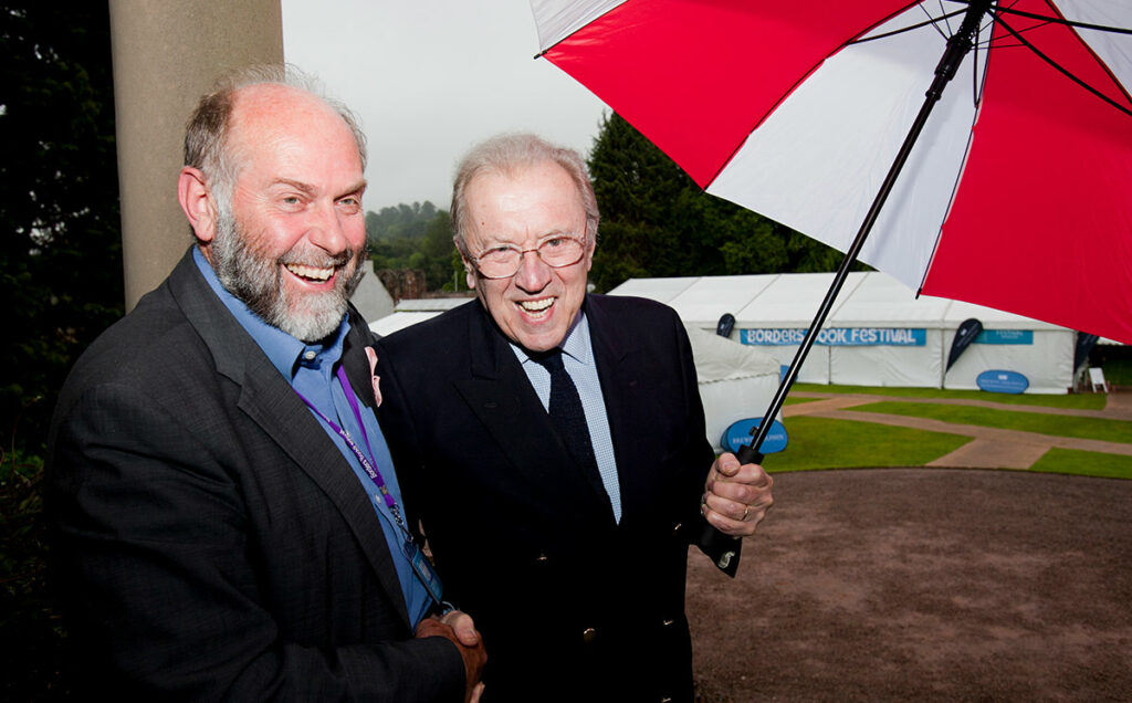 Borders Book Festival 2012 Alistair Moffat With Sir David Frost