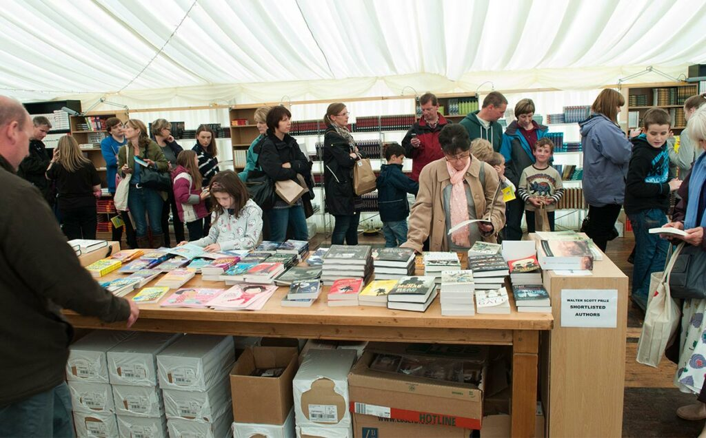 Borders Book Festival 2012 Book Shop