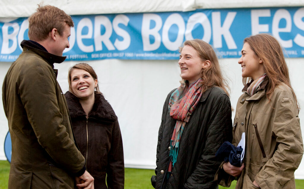 Borders Book Festival 2012 Chatting In The Rain