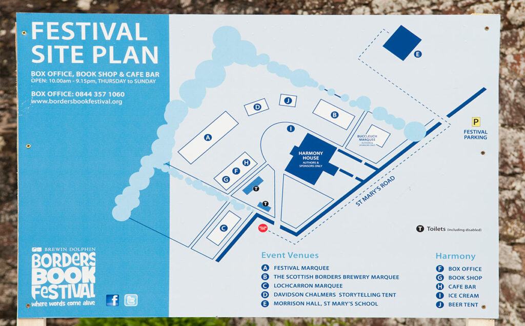 Borders Book Festival 2012 Festival Site Plan