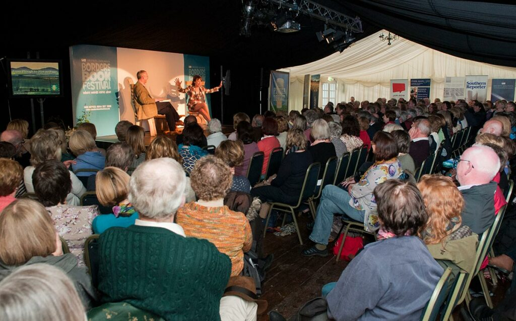 Borders Book Festival 2012 Packed Marquee