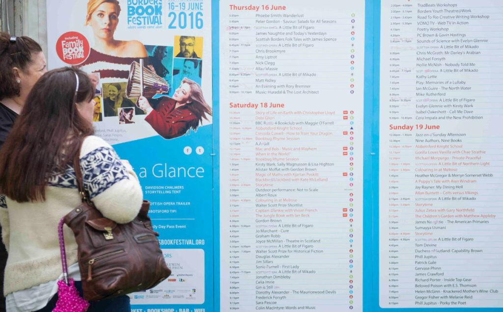 Borders Book Festival 2016 At A Glance