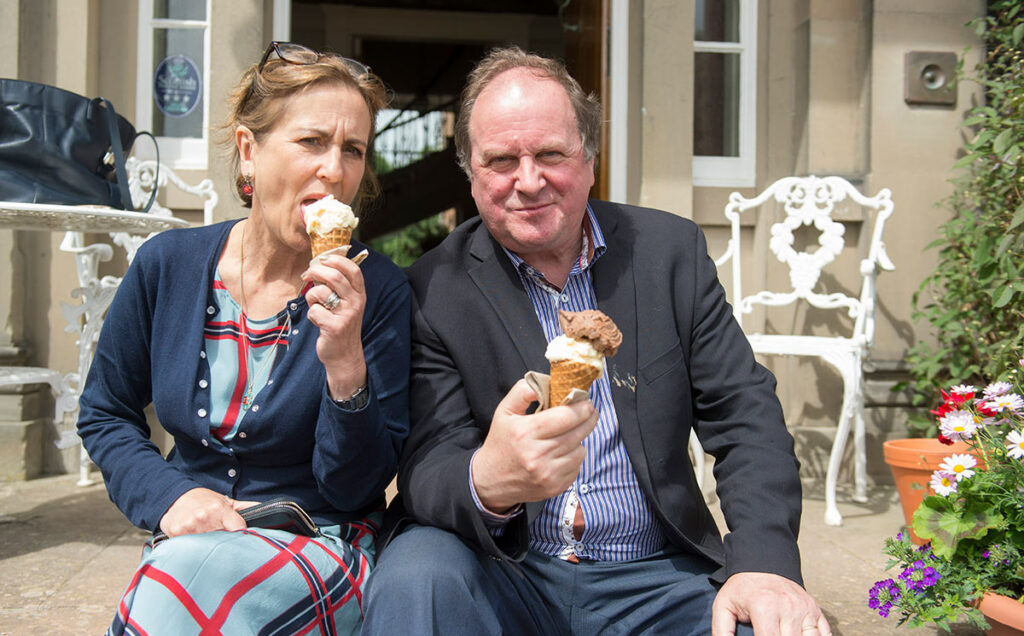 Borders Book Festival 2016 Kirsty Wark And James Naughtie